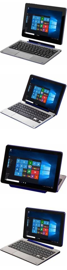 Computers Tablets Networking: Tablet Laptop Computer Convertible 2 In 1 Windows 10 Keyboard Pc 32 Gb Webcam BUY IT NOW ONLY: $167.41