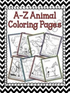 A-Z Animal Coloring Pages from Notebooking Nook on TeachersNotebook.com -  (30 pages)  - A-Z Animal Coloring Pages