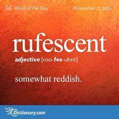 Rufescent