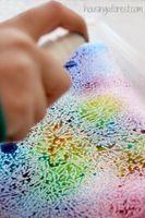 Wax Paper & Watercolor Resist Art - Things to Make and Do, Crafts and Activities for Kids - The Crafty Crow