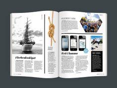 Havneliv, Magazine for Oslo Havn.no (Art Direction: Dinamo Magazine) Magazine Spreads, Oslo, Editorial Design, Art Direction, Magazines, Polaroid Film, Inspiration, Journals, Biblical Inspiration