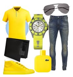 """""""Yell-ow"""" by josh-loebel on Polyvore featuring Scotch & Soda, Balenciaga, KYBOE!, Perry Ellis, Yves Saint Laurent, Lacoste, men's fashion and menswear"""