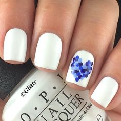 Cute dot heart found off insta! Heart Nail Art, Pacific Blue, Sally Hansen, Holiday Nails, White Nails, Old Things, Valentines, Instagram Posts, Opi Products