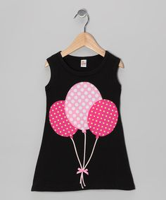 Take a look at this Black & Fuchsia Balloon A-Line Dress - Infant, Toddler & Girls by mini scraps on #zulily today!