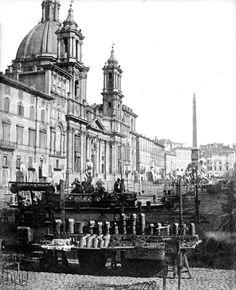 Rome, Piazza Navona 1848 ♠