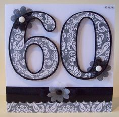 60th Birthday Monochrome