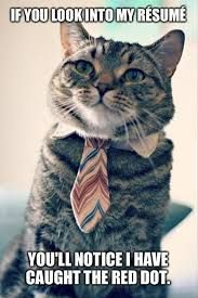 If you look into my resume, you'll notice I have caught the red dot.