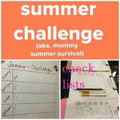 Do you need something to help keep your sanity for the summer? the third boob: summer challenge