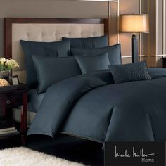Nicole Miller Currents Ink Duvet Cover and Sham Separates | Overstock.com Shopping - The Best Deals on Duvet Covers