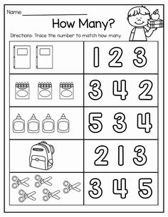 Back to School Math and Literacy Packet Of Free Kindergarten Math Worksheet Packets Printable Preschool Worksheets, Free Kindergarten Worksheets, Kids Math Worksheets, Kindergarten Learning, Preschool Learning Activities, Preschool Math, Math Literacy, Back To School Worksheets, Teaching
