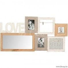 J-Line Pelemele Love Hout Natuur Wit Grijs 95 Jline-by-Jolipa-72430