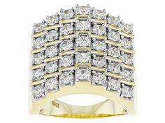 Bella Luce (R) 4.10ctw Diamond Simulant Round Eterno (Tm) Yellow Ring