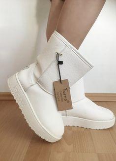 Kup mój przedmiot na #vintedpl http://www.vinted.pl/damskie-obuwie/kozaki/20701332-biale-emu-skora-ekologiczna-nieprzemakalne-z-puszkiem
