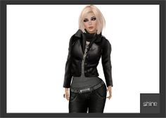 "shine by [ZD] - Mesh ""Stefania"" Leather Jacket 