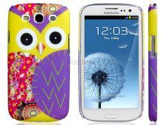 Búho grabado estuche para Samsung Galaxy S3 / I9300 -MS1452X