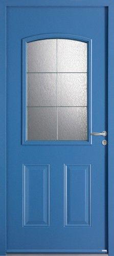 Porte acier porte entree bel 39 m classique poignee Couleur porte d entree