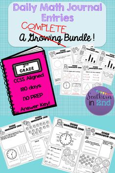 Get a FULL YEAR of student math journal entries for 2nd grade! This bundle is COMPLETE. Buy the bundle to receive a 25% discount!