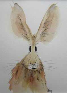 Rosemary the Hare original watercolour by HaresAndHerdwicks