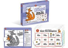 Beat the Kangaroo Money Bingo This game (Australian Money) is played in a similar manner to traditional bingo. Children will have to complete their money bingo card before the Kangaroo's board is completed.