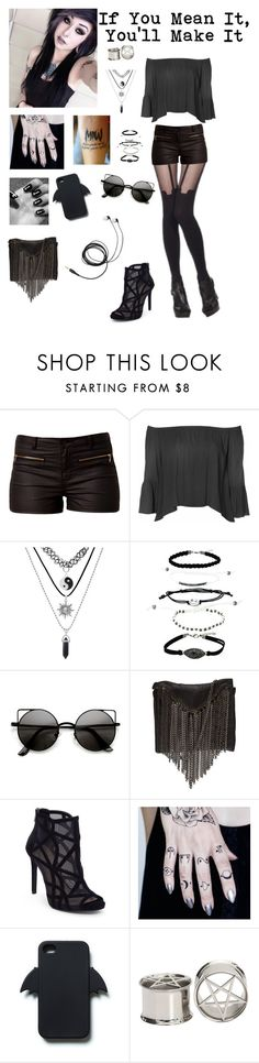 """""""Motionless In White 570"""" by evangeline-purdy-girl ❤ liked on Polyvore featuring Vero Moda, Glamorous, Stand+Deliver, Jessica Simpson and Zara"""