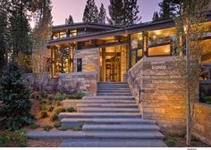 Valhalla Residence is a modern rustic dwelling that has been recently completed by RKD Architects, nestled on a forest site high in the Sierra Mountains, Truckee, California. The design of the home… Mountain Home Exterior, Modern Mountain Home, Casa Loft, Modern Rustic Homes, Modern House Design, Modern Architecture, Future House, Luxury Homes, Beautiful Homes