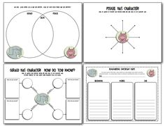 """These are sample pages from """"Elephant and Piggie Pack""""... Have fun with Mo Willems' funny characters while practicing higher level thinking skills such as comparing / contrasting, connecting, inferring, visualizing, and more. It also includes discussion questions for several titles and fun ideas for a culminating """"Elephant and Piggie Party!"""" 84 pages, $"""