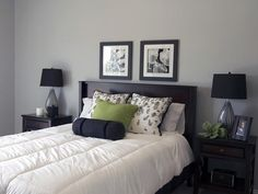 black and white modern bedroom