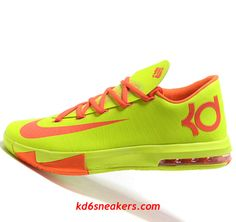 detailed look 6f21c 9d7a9 Nike KD VI 6 yellow red Kevin Durant Basketball shoes - Click Image to Close