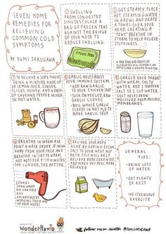 Seven Home Remedies to Relieve Common Cold Symptoms by #Yumi Sakugawa