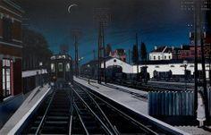 Paul Delvaux, Trains du Soir (1957)