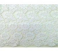 Tule Bordado Branco - Rosas