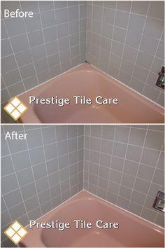 Superbe Regrouting And Recaulking Bathtub Surround Tiles.