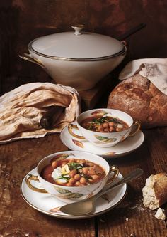 Chickpeas & cod fish potage for Cuquin, food and photography magazine