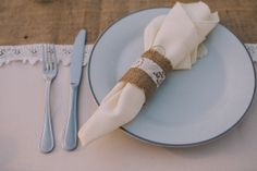 burlap and lace table decor ideas