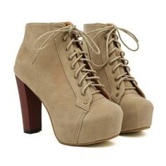 Party Joker Solid Color and Increased Internal Design Women's Ankle Boots Camel Ankle Boots, Brown Boots, Ankle Booties, Lace Up Shoes, Me Too Shoes, Shoes Heels, Sexy Heels, Buy Shoes, Designer High Heels