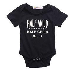 ( Half Wild, Half Child ) Baby Romper Onesie.
