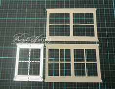 create a double length window frame