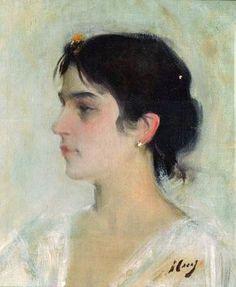 fundacionamyc.org ❀ ramon casas i carbó I894 (collection art figuratif peinture portrait, palette pastel) painting