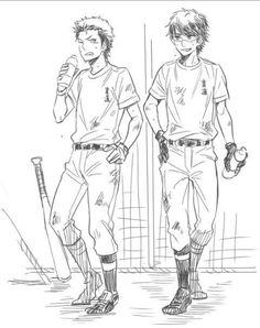 Diamond no Ace - Kuramochi & Miyuki