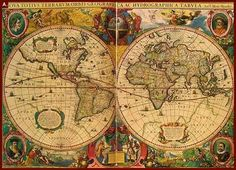 This was one of the earliest printed maps of both 'new' and 'old' worlds.