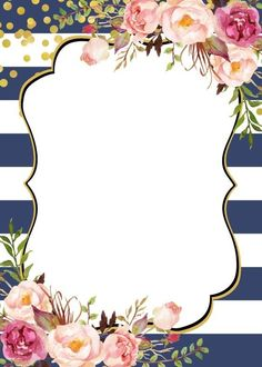 Mi cuadro preferido Vintage Flowers Wallpaper, Flower Background Wallpaper, Flower Backgrounds, Wallpaper Backgrounds, Page Borders Design, Border Design, Chateau Disney, Poster Background Design, Invitation Background