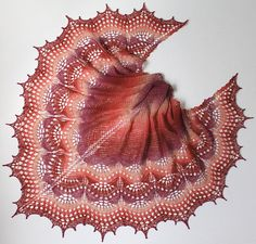 Ravelry: Triana shawl pattern by Sofia Khakimova Crochet Edging Patterns, Shawl Patterns, Baby Knitting Patterns, Lace Knitting, Knitted Shawls, Crochet Shawl, Crochet Lace, Ravelry Crochet, Crochet Scarf For Beginners