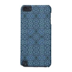 Geometric Dark Blue Squares and Blocks Masculine Case-Mate Barely There 5th Generation iPod Touch Case - Available on many other case styles as well. Samsung S4, iPhone and more...