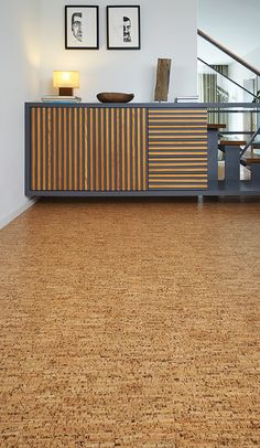 Beautiful Cork Floors In Basement