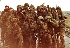 2 Para in the Falkland islands, just after the final battle and about to enter Port Stanley
