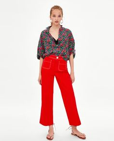 This super fun shirt is the latest addition to my wardrobe and a great one for breastfeeding.   ZARA - TRF - SHORT SLEEVE SHIRT