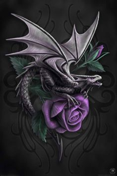 Anne Stokes-Dragon Beauty, this would be pretty as a tattoo design!