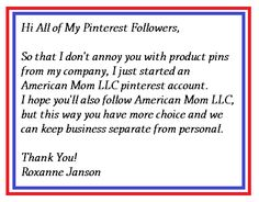 American Mom products appearing on American Mom LLC pinterest account.