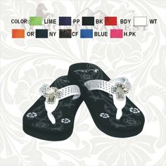 Cute rhinestone cross flip flop.