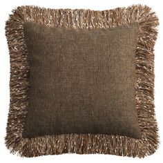 There's a party on your couch, and this pillow is the life of it. Celebrate softness and comfort with shimmering earth tones mixed with a flashy fringe. This pillow makes your couch the perfect place to crash for a pizza party, movie marathon or cozy catnap.